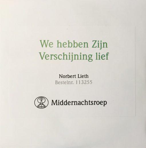 We hebben Zijn Verschijning lief-Norbert Lieth